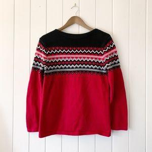 Eddie Bauer Fair Isle Sweater